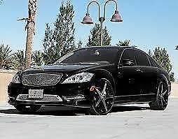 22 Lexani Wheels R 04 Stagger Black R Four Rims Tires Fit Bmw 745 Mercedes S550