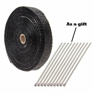 Performance Exhaust Header Heat Wrap1 X 50 Roll With Stainless Ties Kit Set Us