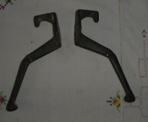 Lot Of 2 Vintage Cast Iron Coat Hooks
