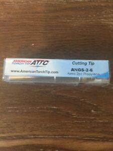 American Torch Cutting Tip Angs 2 6 Airco 2pc Propylene f