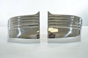 1949 Oldsmobile Gravel Shield Set original polished