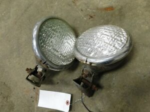 Pair Of Bigger Domed Tractor Lights Tag 391