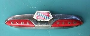 1950 1952 1952 Buick Super Dyna Flow Trunk Handle W Emblem And Dynaflow Lenses