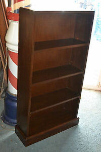 Vtg Mid Century Modern Wooden Book Shelf