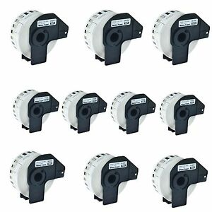 10roll Dk 2210 Continuous Address Labels Frame Compatible For Brother Ql 500