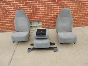 1992 96 Ford F150 1992 97 F250 F350 Bucket Seats With Jump Seat Oem