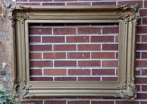 Antique 19c Victorian Huge Heavy Wood Compo Gold Picture Frame 20 X 30 In Fit