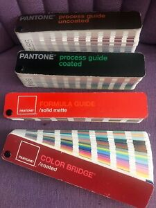 Pantone Color Guide Sheer Bridge Coated Uncoated Booklet Swatch Squares Cmyk