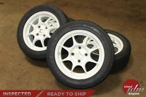 Jdm 15 Honda Acura Type R Dc2 Oem 4 Lug Rims With Used Tires 4x114 3 Wheels