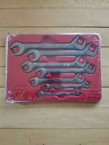 New Snap On 7 Pc Open End 4 Way Angle Head Wrench Set Vs807b 3 8 3 4