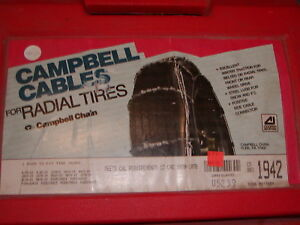 Cable Tire Chains Campbell 1942 225 70 16 245 60 16 255 50 16 255 55 16