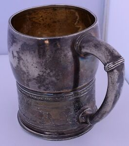 Gorham Large Old Christening Baby Cup Antique American Sterling Silver