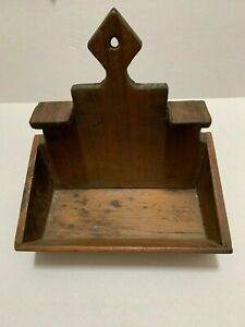 Primitive Handmade Wood Shelf Country Sconce