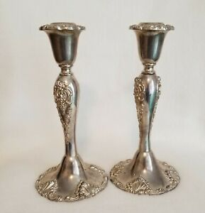 Godinger Grapevine Embossed Silver Plated Candlestick On Sale Now