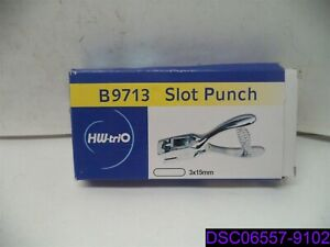 Slot Punch Badge Hole Punch Plier Tool Stainless Steel Pvc Id Card B9713