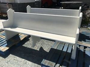 Nice Antique Painted Church Pew 6 5 Feet Beautiful Solid Oak Bench Seat