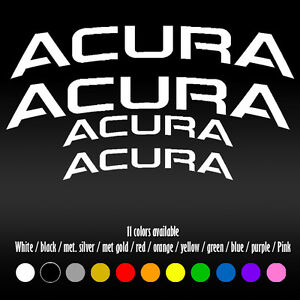 5 Curve Acura Brembo Bbk Brake Caliper High Temp Rl Tl Tsx Vinyl Decal Sticker