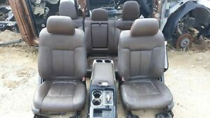11 Ford F 150 Platinum Edition Brown Leather Seats Center Console