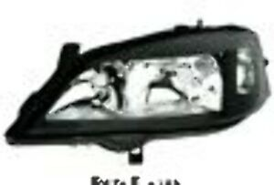 Headlights Left For Opel Astra G All In Black Clear