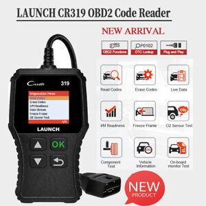 Launch X431 Cr319 Obd2 Code Reader Scanner Vehicle Eobd Fault Diagnostic Tool Us