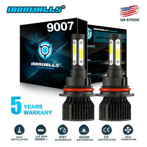 9007 4 sides Led Headlight Hi lo Bulbs For Ford F 150 1992 2003 F 250 1992 1999