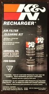 K N 99 5000 Kn Air Filter Cleaning Care Service Kit W Oil Cleaner Recharger