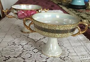 1 Vintage Royal Sealy China Pink Rose Cup 1 Iridescent Cup