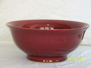 Huge Chinese Sang De Boeuf Oxblood Glaze Celebration Punch Bowl