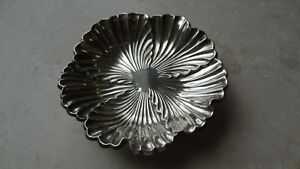Vintage Art Nouveau Hallmarked Sterling Silver Floral Tray Perfect Condition
