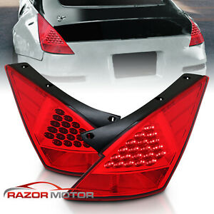 Led Style For 2003 2004 2005 Nissan 350z Red Rear Led Brake Tail Lights Pair
