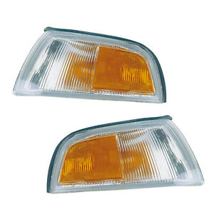 97 02 Mitsubishi Mirage 4 Door Parking Signal Lights Assembly Pair Set