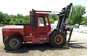 Taylor Teb 250 Rough Terrain Forklift 25k Capacity Cummins Engine Sideshift