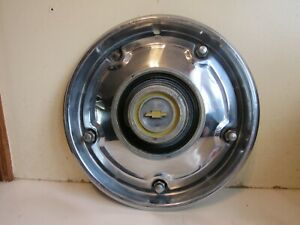 Vintage 1973 1979 Chevy Truck Yellow Bowtie Hubcap 15