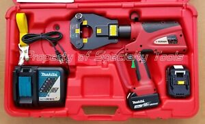 Burndy Pat81kftli Hydraulic Battery Operated Dieless Crimper Crimping Tool