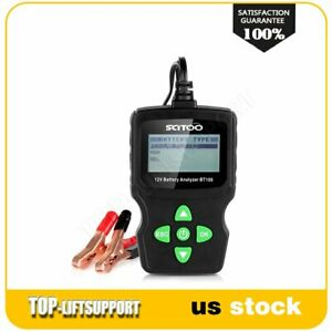6v 12v 18v Vehicle Digital Battery Test Analyzer Diagnostic Tool Bt100 Car Power