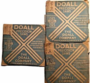 Lot Of 3 Vintage Doall Precision Saw Raker Blades 3 16 And 3 32 Contour Cutting