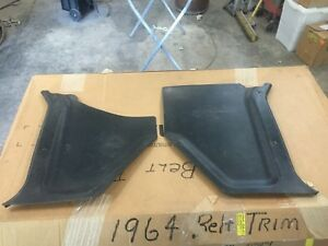 1963 1964 Ford Galaxie 500 Kick Panels Pair Lh Rh Mercury Original Black