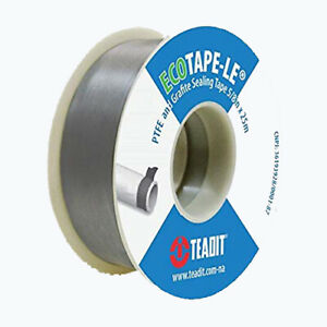 Teflon Tape With Graphite 5 8 Wide X 82 Feet D qty 10 Rolls