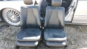 00 Mercedes Benz S430 Black Leather Front Seats