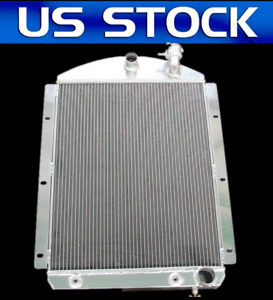 3 Cores Rows Aluminum Radiator For 1941 1946 Chevy Pickup Truck V8 Small Block