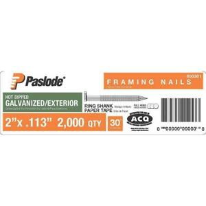 Paslode Framing Nails 2 In 30 Galvanized Ring Shank Paper Tape 2000 count