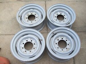 4 Ford Factory Script 16x7 8x6 5 Steel Wheels Will Fit Chevy Same Bolt Pattern