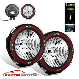 Pair Universal 7 Inches Built In 6000k Hid 4x4 Off Road Fog Lights For Suv Truck