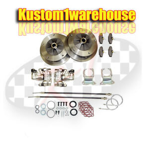Rear Disc Brake Kit Conversion W emergency Brake Vw Bug 5 On 205 Bolt Pattern