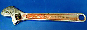 Armstrong 10 Adjustable Wrench Crescent Type Made In Usa
