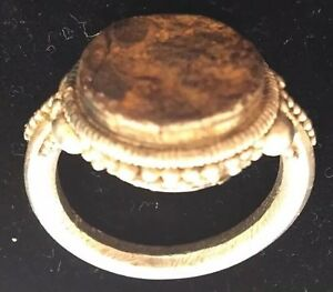 Roman Seal Ring Silver Ancient 100 200 B C