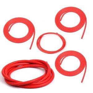 Silicone Vacuum Hose Kit Assortment 3mm 4mm 5mm 6mm 10mm Red Intercooler Pipe