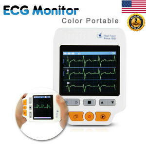 Heal Force 180d Portable Ecg Monitor W Lead Cables 50 Pcs Ecg Electrodes