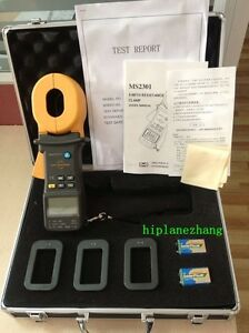 Hi accuracy 0 01ohm Clamp On Ground Earth Resistance Tester Meter 1200ohm Ms2301