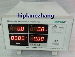 Bench Power Factor Power Meter Total Harmonic Distortion Analyzer Rs232 Pf9810